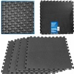 Trademark Global Ultimate Comfort Black Foam Flooring - 16 Square Feet