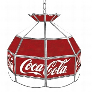Trademark Global Coca Cola Vintage 16 Inch Stained Tiffany Lamp, 1 ea
