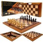 Trademark Games Deluxe Wooden Chess, Checker & Backgammon Set- 1 ea