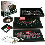 Trademark Poker 4 in 1 Casino Game Table Roulette, Craps, Poker,