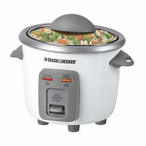 Black & Decker 3-Cup Automatic Rice Cooker Model RC3303, 1 ea