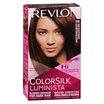 Revlon ColorSilk Luminista Vibrant Color for Dark Hair, Dark Golden Brown 114