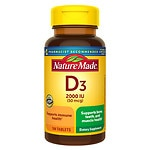 Nature Made Vitamin D3 2000 IU, Tablets