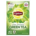 Lipton Green Tea Bags, Natural, 40 ct