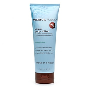 Mineral Fusion Mineral Body Lotion, Unscented, 8 oz