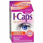 ICaps Eye Vitamin & Mineral Supplement, Lutein & Omega-3, Softgels- 30 ea