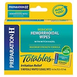 Preparation H Totables, Hemorrhoidal Wipes with Witch Hazel- 10 ea