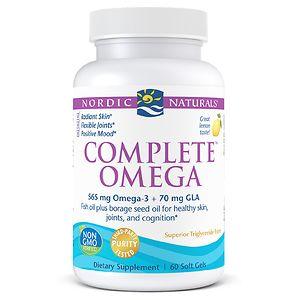 Nordic Naturals Complete Omega 3-6-9, Soft Gels, Lemon- 60 ea