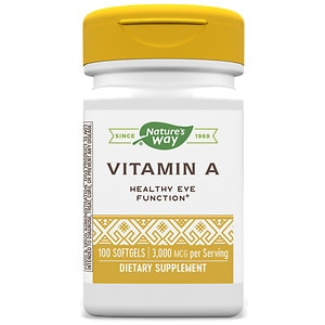 Nature's Way Vitamin A 10,000 IU, Softgels