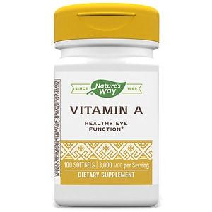 Nature's Way Vitamin A 10,000 IU, Softgels- 100 ea