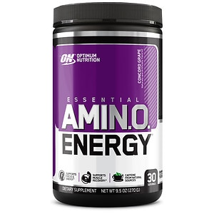 Optimum Nutrition Essential Amino Energy, Concord Grape- 9.6 oz