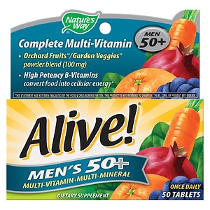 Nature's Way Alive! Once Daily Men's 50+ High Potency Multivitamin
