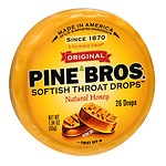Pine Bros. Softish Throat Drops, Natural Honey
