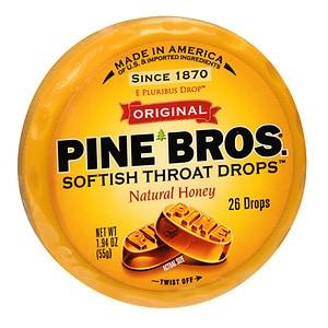 Pine Bros. Softish Throat Drops, Natural Honey- 26 ea