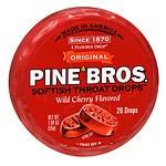 Pine Bros. Original Softish Throat Drops, Wild Cherry- 26 ea