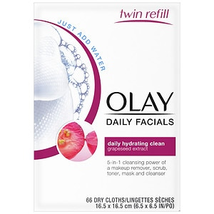 Olay Daily Clean 4-in-1 Water Activated Cleansing Face Cloths, 2pk