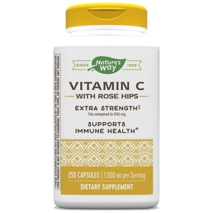Nature's Way Vitamin C with Rose Hips, 1000mg, Capsules- 250 ea