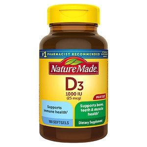 Nature Made Vitamin D3 1000 IU, Softgels