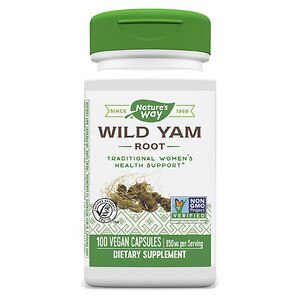 Nature's Way Wild Yam Root, 425 mg, Capsules- 100 ea