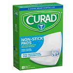Curad Non-Stick Pads, 8 x 3 in- 8 ea