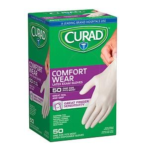 Curad Powder-Free Exam Gloves, Latex, Universal