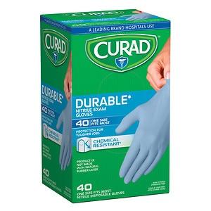 Curad Powder-Free Exam Gloves, Nitrile, Universal- 40 ea