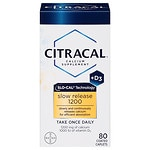 Citracal Calcium + D, Slow Release 1200, Coated Tablets