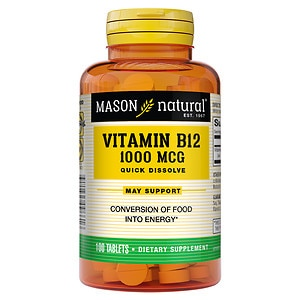Mason Natural Vitamin B-12 1000mcg, Sublingual Tablets- 100 ea