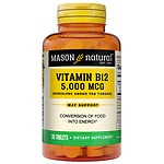 Mason Natural Vitamin B-12, 5000mcg, Sublingual Tablets- 30 ea