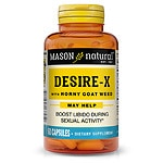 Mason Natural Desire-X, Horny Goat Weed, Capsules- 60 ea