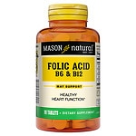 Mason Natural Folic Acid B-6 & B12, Tablets- 90 ea