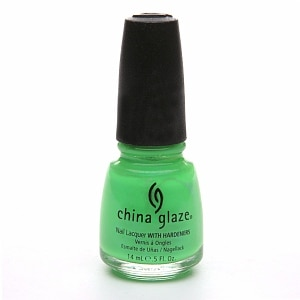China Glaze Nail Lacquer with Hardeners, In The Lime Light #1009- .5 fl oz