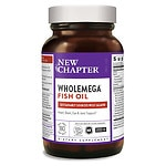 New Chapter WholeMega 1000mg Extra Virgin Omega-Rich Fish Oil Softgels- 180 ea