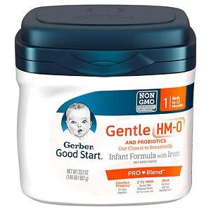 Gerber Good Start Gentle, Infant Formula, Powder, Birth+- 23.2 oz
