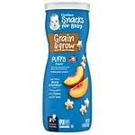 Gerber Graduates Puffs Cereal Snack, Peach- 1.48 oz