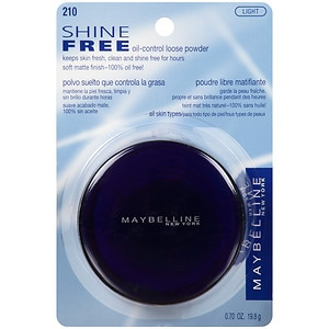Maybelline Shine Free - Loose Oil-Control Loose Powder, Light- .7 oz