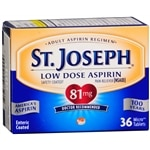 St. Joseph Safety Coated Aspirin Pain Reliever, 81mg, Tablets- 36 ea