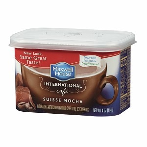 Maxwell House International Cafe Style Beverage Mix, Decaffeinated & Sugar Free, Suisse Mocha- 4 oz