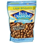 Blue Diamond Low Sodium Almonds, Lightly Salted Sea Salt- 16 oz