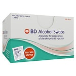 BD Alcohol Swabs- 100 ea