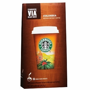 Starbucks Via Instant Coffee Packets, Colombia, 8 pk