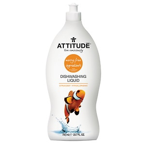 Attitude Dishwashing Liquid, Zest- 23.7 fl oz