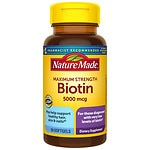 Nature Made Biotin, 5000mcg, Liquid Softgels
