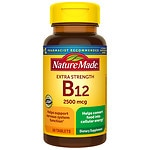 Nature Made Vitamin B-12, 2500mcg, Tablets