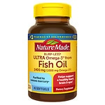 Nature Made Ultra Omega-3 Fish Oil, 1400mg, Liquid Softgels- 45 ea