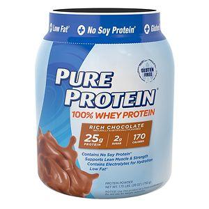 Pure Protein 100% Whey Protein Shake Powder, Rich Chocolate- 28 oz
