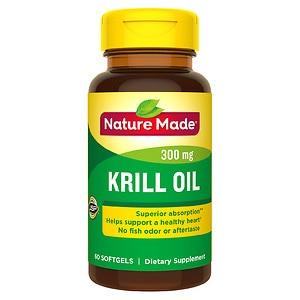Nature Made Krill Oil, 300mg, Liquid Softgels- 60 ea