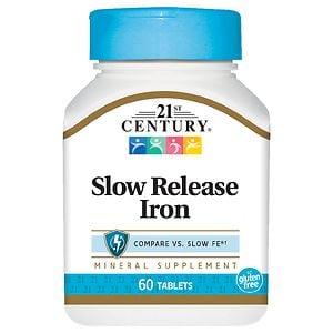 21st Century Slow Release Iron, Tablets- 60 ea
