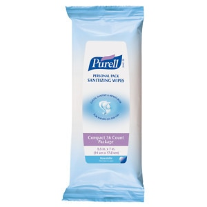 Purell Personal Pack Sanitizing Wipes- 36 ea