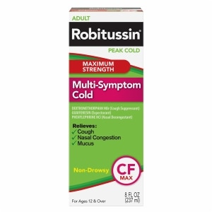 Robitussin Peak Cold Multi-Symptom Cold, Maximum Strength, 8 fl oz